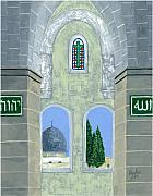 Jerusalem Paintings - Temple Mount by J F Dagher