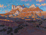 Southwest Paintings - Temple Mountain Tapestry by Stephen Bartholomew