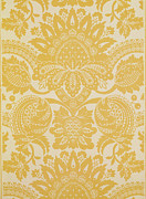 Yellow Tapestries - Textiles Prints - Temple Newsam Print by Cole and Sons