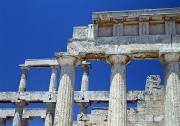 Columns Of Greece Framed Prints - Temple Of Aphaia Framed Print by Axiom Photographic