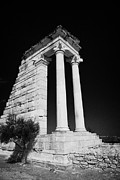 Republic Prints - Temple Of Apollo Hylates In The Sanctuary Of Apollon Ylatis At Kourion Archeological Site Print by Joe Fox