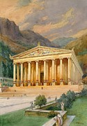 Wonders Of The World Art - Temple of Diana by English School