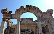 Ephesus Framed Prints - Temple of Hadrian. Framed Print by Terence Davis