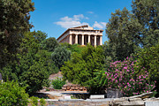 Old Door Photos - Temple of Hephaestus by Emmanuel Panagiotakis