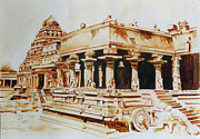 Tamilnadu Paintings - Temple of Tamilnadu India by Seni