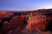 Bryce Canyon Acrylic Prints - Temple of the setting sun Acrylic Print by Mike  Dawson