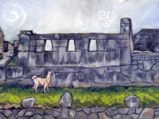 Sacred-symbol Paintings - Temple of Three Windows by Susan Tower