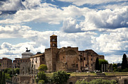 Roma Photos - Temple of Venus and Roma by Fabrizio Troiani