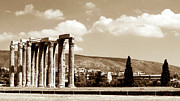 Greek Temple Posters - Temple of Zeus Poster by John Rizzuto
