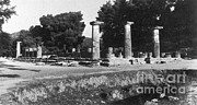 Ancient Greek Ruins Prints - Temple Of Zeus, Olympia, Greece Print by Photo Researchers