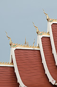 Laos Posters - Temple Roof Detail. Poster by Thomas Pickard