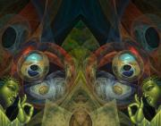 Trippy Digital Art - Temple by Tammy Wetzel