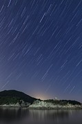 Japanese Village Prints - Temple Under Stars Print by Trevor Williams/Fiz-iks