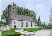 Ollie Paintings - Templeharry Church Moneygall by David O Reilly
