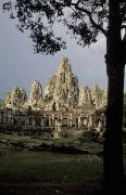 Angkor Prints - Temples Of Angkor, Bayon, Siem Reap Print by Richard Nowitz