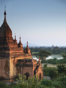 Myanmar Prints - Temples of Bagan Print by Nina Papiorek
