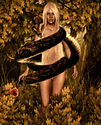 Lure Digital Art Posters - Temptation and Fall Poster by Lourry Legarde