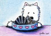 West Highland White Terrier Mixed Media - Temptation by Kim Niles