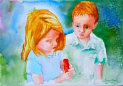 Boy And Girl Prints - Temptation Print by Sharon Mick