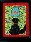 Stained Glass Art - Temptation by Sheri Thrift Roberson