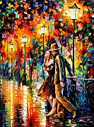 Figures Painting Framed Prints - Tempter Framed Print by Leonid Afremov