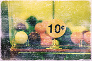 Textured Photograph Prints - Ten cent candy Print by Toni Hopper
