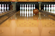 Bowling Alley Prints - Ten Pin Bowling Alley Print by ColorBlind Images