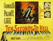 1959 Movies Framed Prints - Ten Seconds To Hell, Jeff Chandler Framed Print by Everett