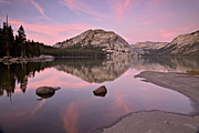 Park Scene Posters - Tenaya Lake At Sunset Poster by Photo By Daryl L. Hunter - The Hole Picture