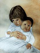 Babies Pastels - Tender Moment by Jan Amiss