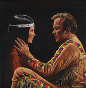 Captain Kirk Painting Posters - Tenderness in His Touch Poster by Kim Lockman