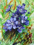 Most Popular Paintings - Tenderness of spring by Zaira Dzhaubaeva