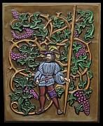 Grape Vines Reliefs - Tending The Vines by Guillaume Guy