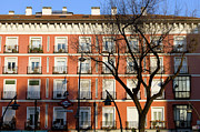 Historic Housing Prints - Tenement House Facade in Madrid Print by Artur Bogacki