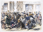 Eviction Framed Prints - Tenement Life, 1871 Framed Print by Granger