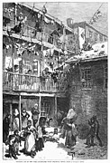 W.a Framed Prints - Tenement Life, 1879 Framed Print by Granger