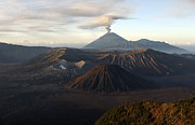 Steep Sand Framed Prints - Tengger Caldera With Erupting Mount Framed Print by Martin Rietze