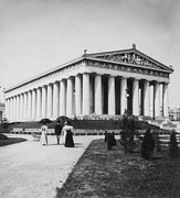 Nashville Tennessee Framed Prints - Tennessee Centennial in Nashville - The Parthenon - c 1897 Framed Print by International  Images