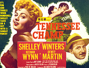 Keenan Posters - Tennessee Champ, Shelley Winters Poster by Everett