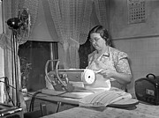 Ironing Board Prints - Tennessee: Farm Wife, 1942 Print by Granger