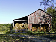 Franklin Farm Posters - Tennessee Hay Barn Poster by Richard Gregurich