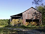 Tennessee Hay Barn Print by Richard Gregurich
