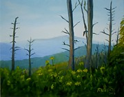 Smokey Mountains Paintings - Tennessee Mts. by Phebe Smith