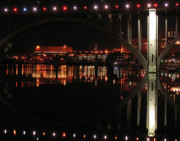Tennessee River Framed Prints - Tennessee River in Lights Framed Print by Douglas Stucky