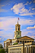 Nashville Tennessee Digital Art Metal Prints - Tennessee State Capitol Metal Print by Mary Timman