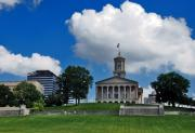Buildings In Nashville Tennessee Prints - Tennessee State Capitol Nashville Print by Susanne Van Hulst