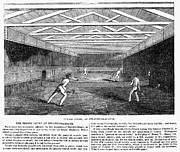 Racket Framed Prints - Tennis, 1845 Framed Print by Granger