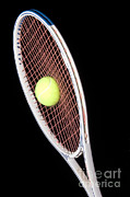 Stroboscopic Image Photos - Tennis Ball And Racket by Ted Kinsman
