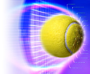Sporting Equipment Posters - Tennis Ball Poster by Coneyl Jay