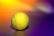 Felt Prints - Tennis Ball Print by Olivier Le Queinec